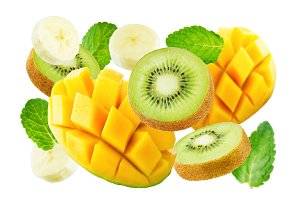 Mango with fruits