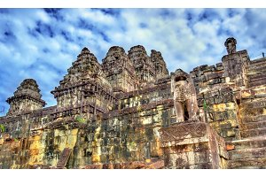 Phnom Bakheng, a Hindu and Buddhist temple at Angkor Wat - Cambodia