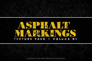 Asphalt markings textures volume 01