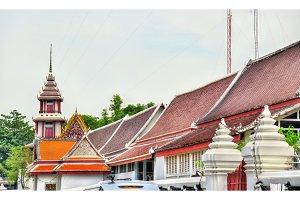 Buildings in Bangkok near the Wat Pho temple
