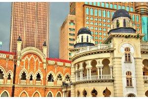 Panggung Bandaraya, City Theatre and the Old High Court Building in Kuala Lumpur, Malaysia