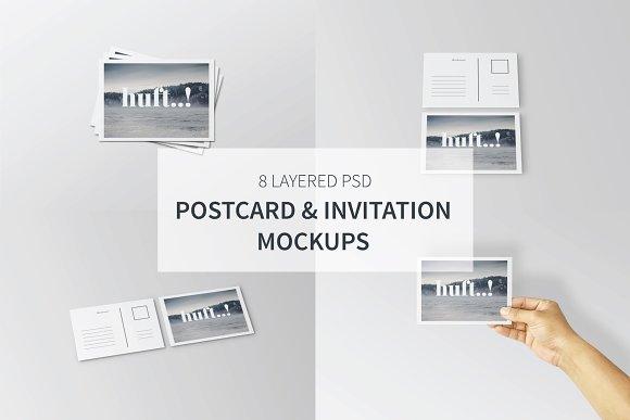 Postcard Invitation Mockups