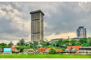 Royal Selangor Club and Police Headquarters Tower in Kuala Lumpur, Malaysia