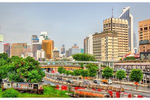 Skyline of Kuala Lumpur, the capital of Malaysia