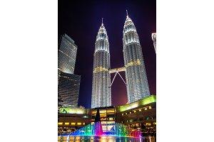 Twin towers in Kuala Lumpur, Malaysia