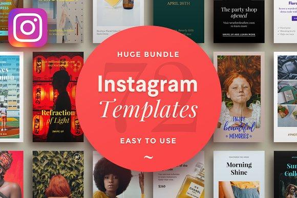 5-in-1: 72 Instagram Template Bundle