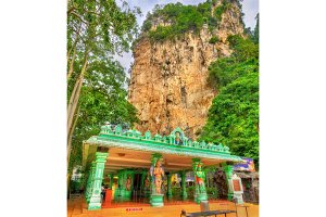Hindu temple at the Ramayana Cave, Batu Caves in Kuala Lumpur, Malaysia