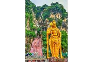 The tallest statue of Murugan, a Hindu deity, at the entrance of Batu Caves - Kuala Lumpur, Malaysia