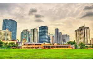 Downtown Kuala Lumpur skyline. Malaysia