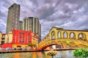 Jambatan Cathay Bridge in Malacca, Malaysia