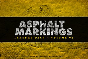Asphalt markings textures volume 02