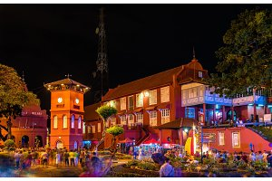 The Stadthuys, a historical structure in Malacca, Malaysia