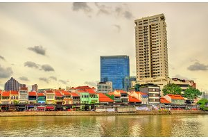 Boat Quay, a historical district of Singapore