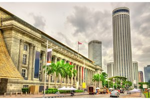 The City Hall, a historic building in Singapore