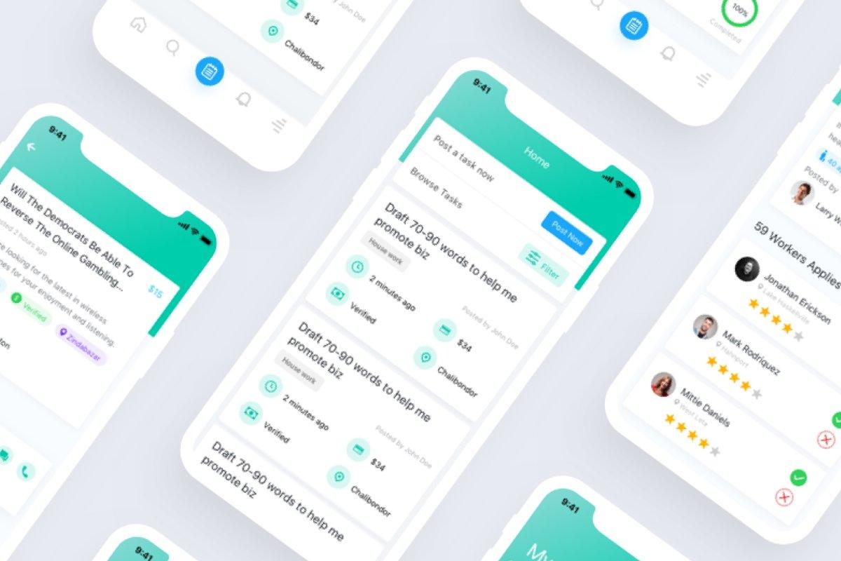 Tasker iOS UI Kit ~ UI Kits and Libraries ~ Creative Market