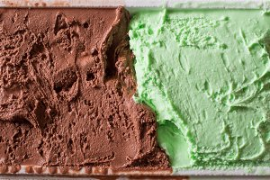 Chocolate and mint icecream