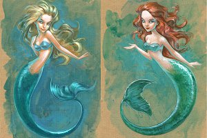 Two lovely mermaids
