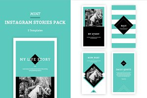 MINT - Instagram Stories Pack