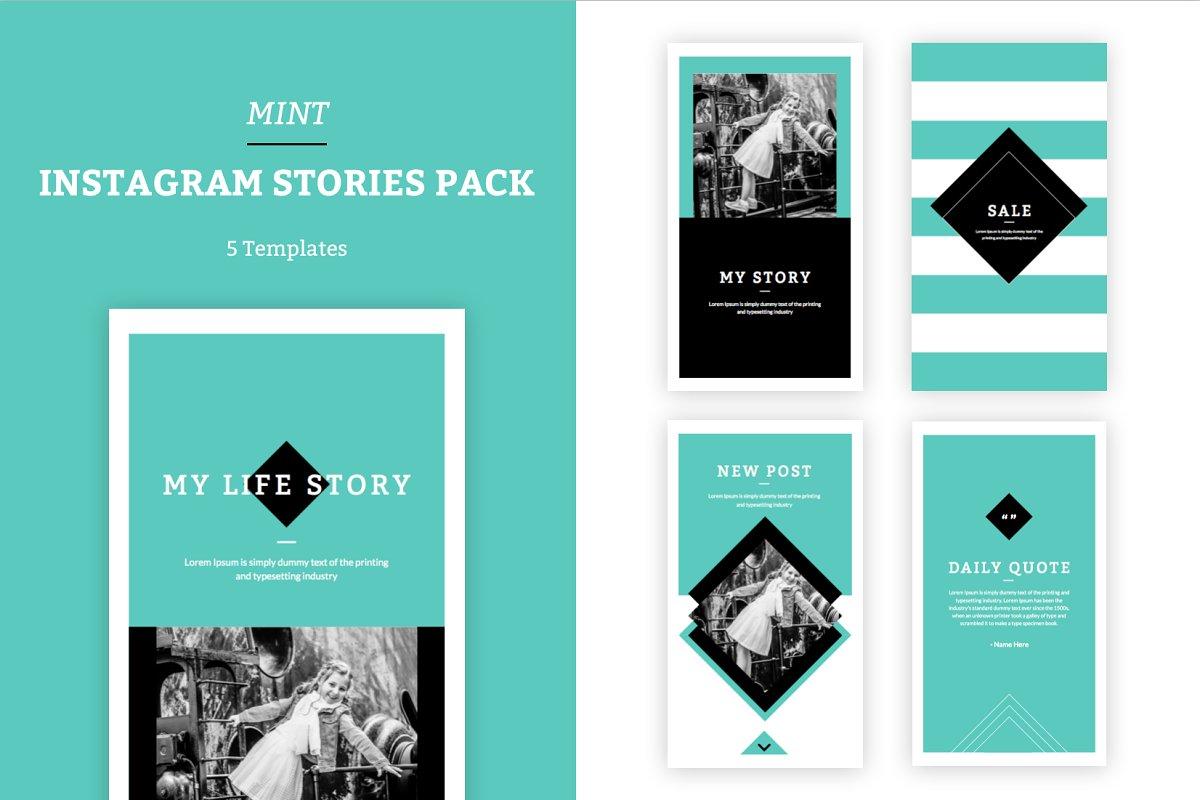 MINT - Instagram Stories Pack