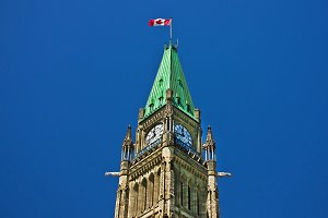 Canadian Parliament tower, Ottawa