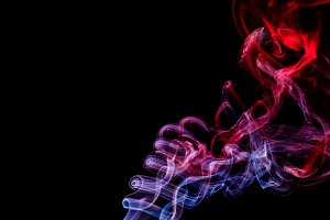 Abstract red - blue smoke