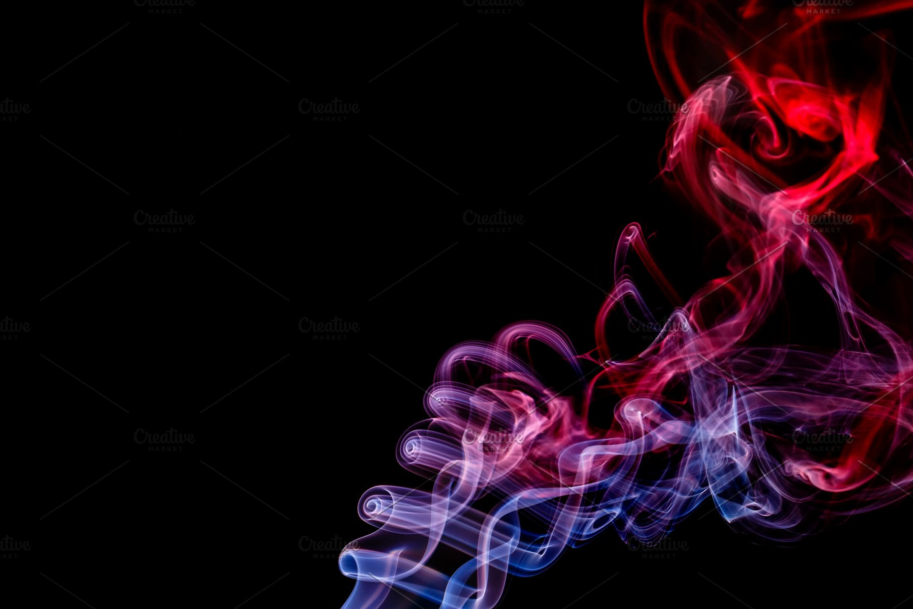 Abstract Red Blue Smoke