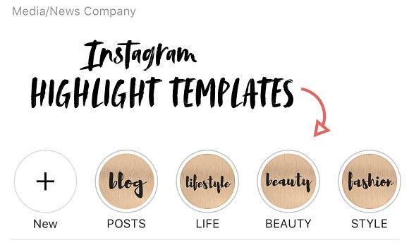 Instagram Story Highlight Templates