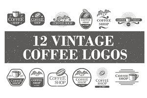 12 Vintage Coffee Logos & Badge