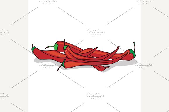 Isolate Ripe Red Hot Chili Pepper