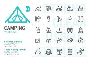 Camping & Outdoor Mini Icon