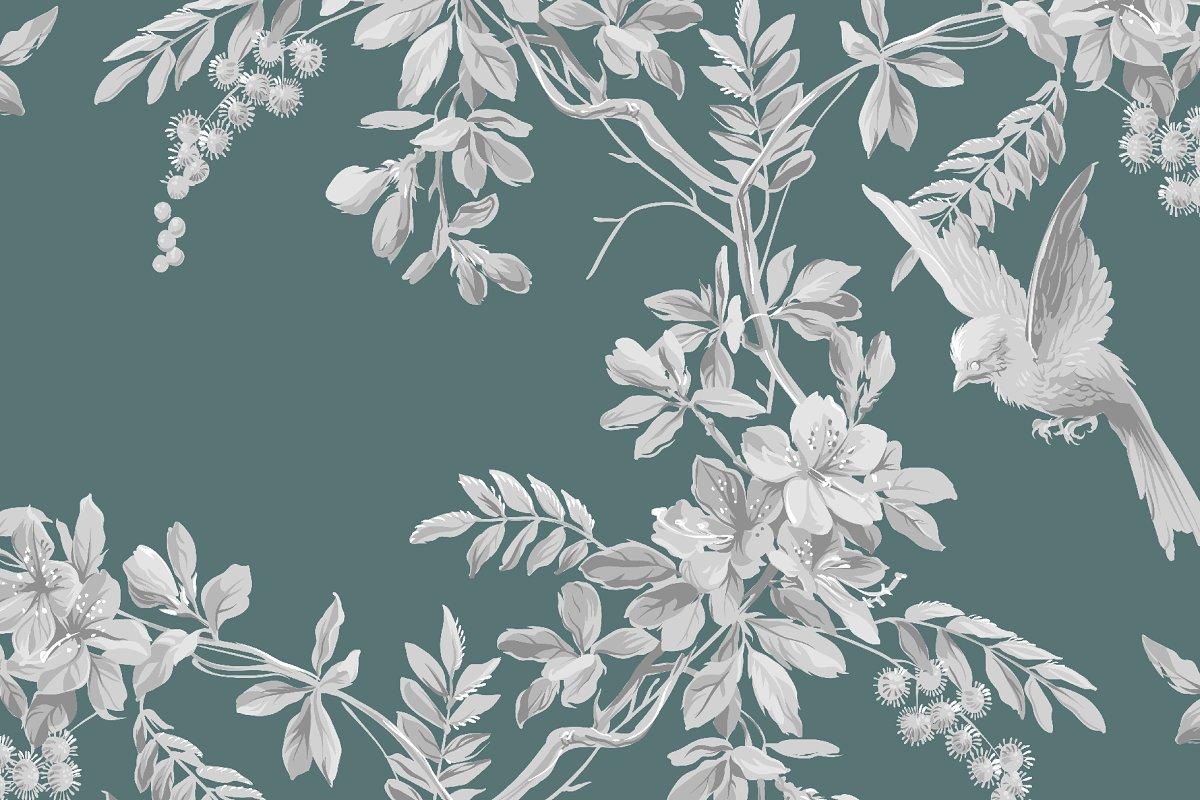 Vintage Floral Pattern Custom Designed Graphic Patterns