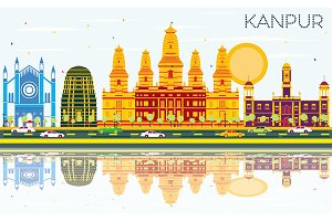 Kanpur India City Skyline