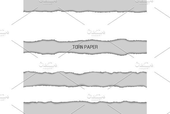 Torn Paper Picture Design Vector Illustration