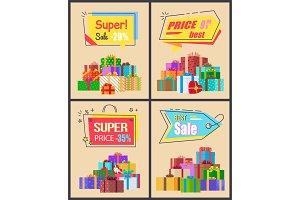 Super Sale Last Price Set of Labels Percent Signs