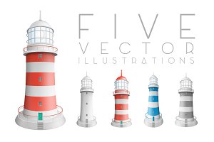 Realistic lighthouses