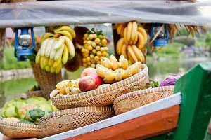 Various Fruit on the Boat