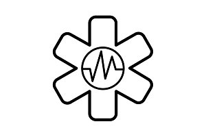 medical (ambulance) line icon black