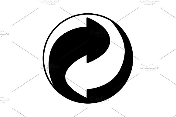 Vector Recycling Sign Black On White