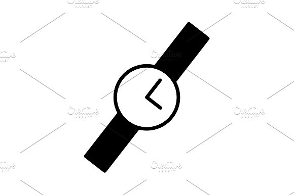 Wristwatch Vector Icon Black