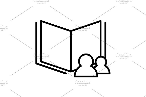 Read Data Icon Vector Illustration