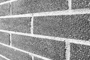 Brick Wall Side Angle Black/White