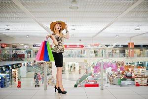 Girl shopping mall