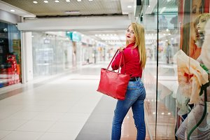 Girl in mall