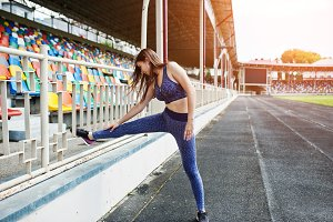 Gorgeous young fit sport woman