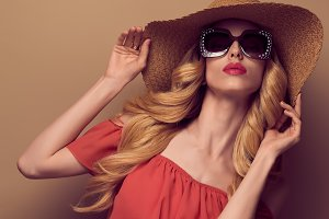 Fashion Sensual Beauty Blond Woman