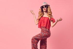 Fashion Beautiful Blond Woman