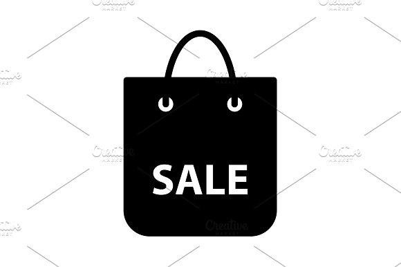 Shopping Bag Vector Icon Black