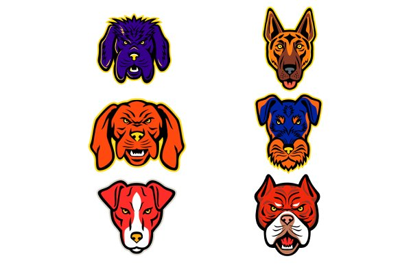 Working Dogs Mascot Collection Set