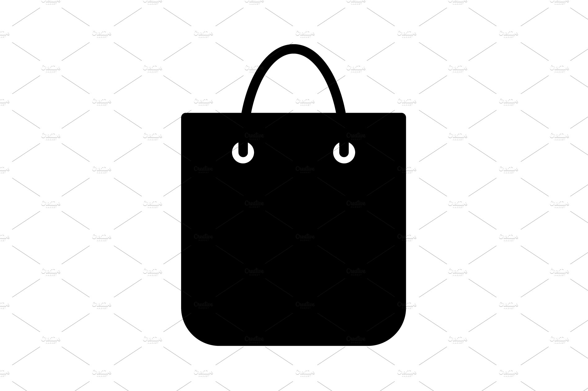 shopping bag vector icon black pre designed photoshop graphics creative market shopping bag vector icon black