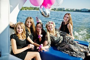 Girls on yacht